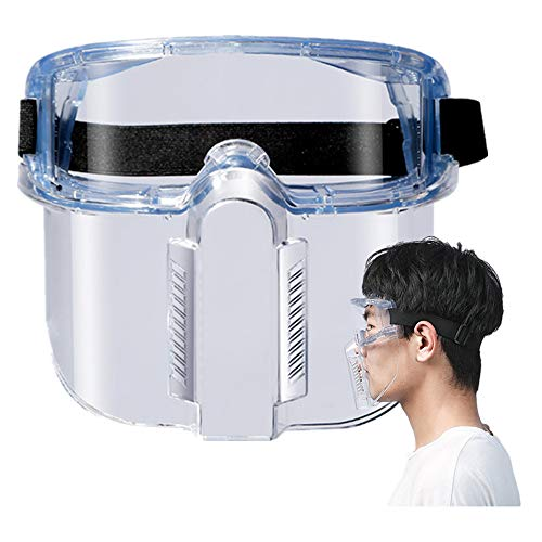 Spoda 2020 Reusable Transparent PC Goggles Face Ma&ks Adult and Kids ShieIds Separable Design for 𝘾𝙤𝙧𝙤𝙣𝙖𝙫𝙞𝙧𝙪𝙨 (5 PC)