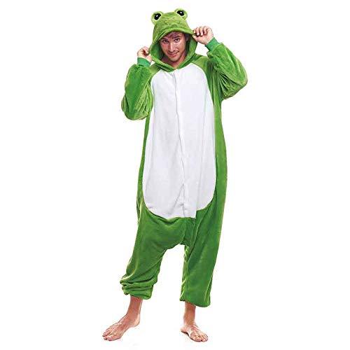 Pijamas Enteros de Animales Adultos Unisex (Tallas de Adultos S a L) Disfraz Rana Mono Enterizo Adulto Carnaval Fiestas【Talla M】