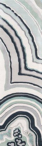 Novogratz by Momeni Delmar DELMADEL10BLU80A0 Teppich, handgetuftet, Wollteppich, 2,4 x 25,4 cm, Blau Modern 2'3