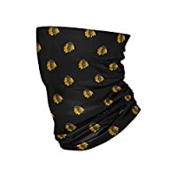 FOCO Chicago Blackhawks NHL Mini Print Logo Gaiter Scarf