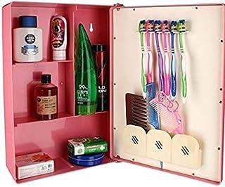 """Victor Enterprises Fantasy Bathroom Mirror Cabinet, Pink (10""""x14""""x4"""")"""