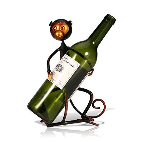 LXGANG Decoración de Forma del mono del metal del vino del estante de escritorio Inicio Porche barra de la decoración del restaurante decoración retro antiguo arte de la personalidad creativa elegante