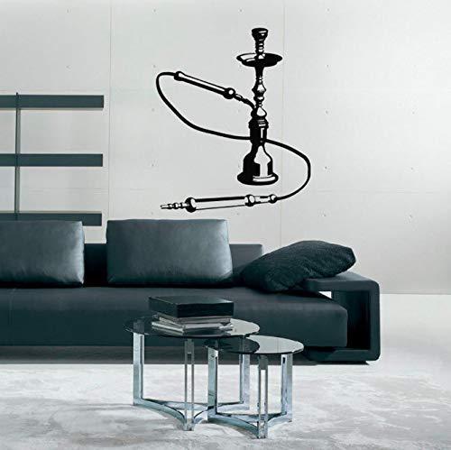 Shisha Bar Wandtattoos Shisha Art Wandaufkleber Home Decor Dekoration Aufkleber Poster Wandbild Raum Design Muster Abnehmbar 42X35 Cm