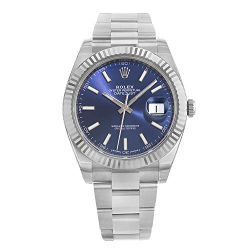 Men's Rolex Datejust 41 Blue Dial Oyster Bracelet Watch 126334