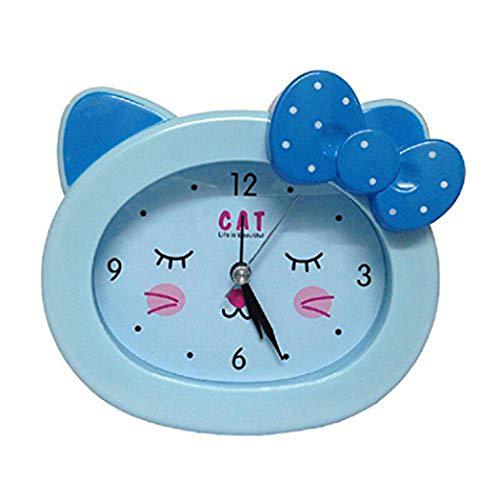 S.W.H Katze Cartoon-Muster Kinder/Jugendliche/Mädchen Katze Wecker Schlaf-Trainer