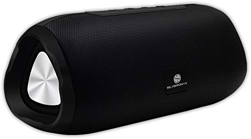 Bluetooth Speakers Portable Wireless Speaker, Loud Crystal Clear HD Stereo Sound, Rich Bass Subwoofer, Built-in Microphone, Long Range, Aux Cable Input, for Shower, Home, Travel – Black