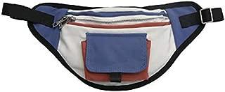 TOOGOO Unisex Pockets Stitching Waterproof Pockets Chest Bag Travel Cashier Belt Hip Hop Men and Women Bag Yellow