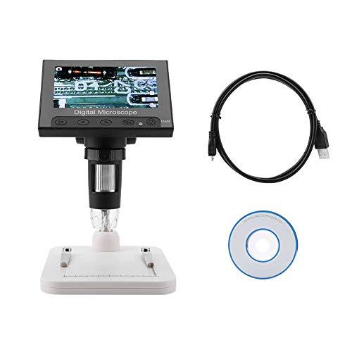 Disfrute de verano DM4 2MP 500 1000X Microscopio electrónico digital Lupa de pantalla de 4.3 con luz LED(Plastic holder)
