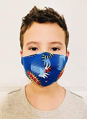 Pow Superheroes Face Mask, Comfortable Breathable 2 Layers Fabric, Brak Washable Mask Reusable, Children Mask, Toddler, Boys, Girls Mask Unisex Toddler