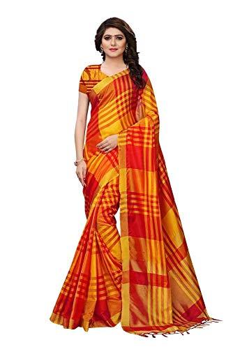 Indische Bollywood Hochzeit Saree indische ethnische Hochzeit Sari Neue Kleid Damen lässig Tuch Geburtstag Ernte Top Mädchen Frauen schlicht traditionelle Party Wear Readymade Kostüm (orange)