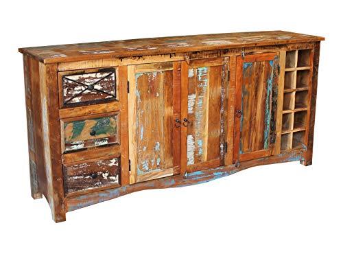 MASSIVMOEBEL24.DE Massivmöbel lackiert Altholz Holz massiv Sideboard massiv Möbel Massivholz Mehrfarbig Nature of Spirit #15