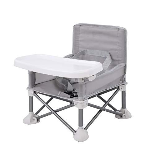 PandaEar Summer Baby Pop Sitz Babystuhl Sitzerhöhung| Tragbarer Babysitz Kinderstuhl| Kompaktes Klappbarer Booster Hochstuhl mit Riemen für den Innen- und Außenbereich| Ideal für Camping Strand Rasen