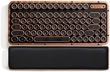 AZIO Retro Compact Keyboard Mac or PC Compatible Vintage Mechanical Typewriter Style with Arm product image