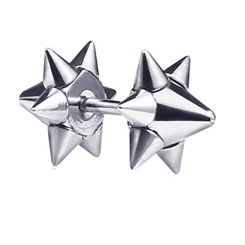 Pendientes de los hombres Pendiente para regalo Único pendiente, Chica pendiente Hipoalergénico pendiente Atractivo pendiente silver