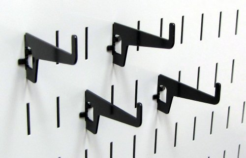 Wall Control Pegboard 2-7/8in Long Reach Slotted Hook Pack - Slotted Metal Pegboard Hooks for Wall Control Pegboard and Slotted Tool Board – Black