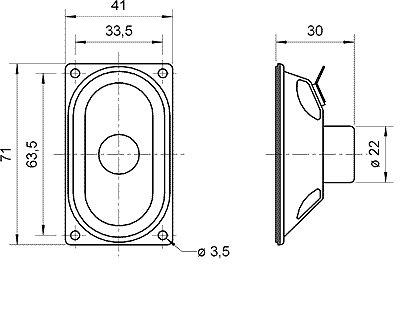 ESU 50336 Lautsprecher Visaton SC 4.7 ND