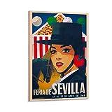 SANDYN Vintage-Reise-Poster, Feria De Sevilla,