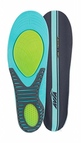 Avia Flex Recovery Anti Fatigue All Day Comfort Men's Insole, Size 8 - 12 - Ergonomic Memory Foam Countouring for Superior Arch Support