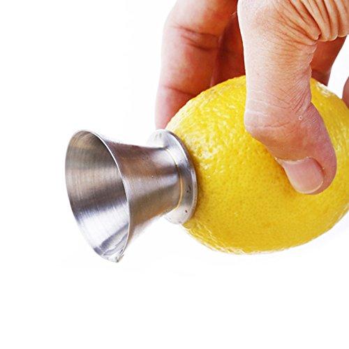 BestUtensils, spremiagrumi manuale in acciaio inox 18/8, estrattore di succo e versatore di limone