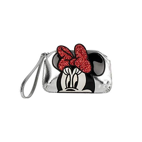 Danielle Nicole - Disney zilveren armband make-up tas Minnie Mouse