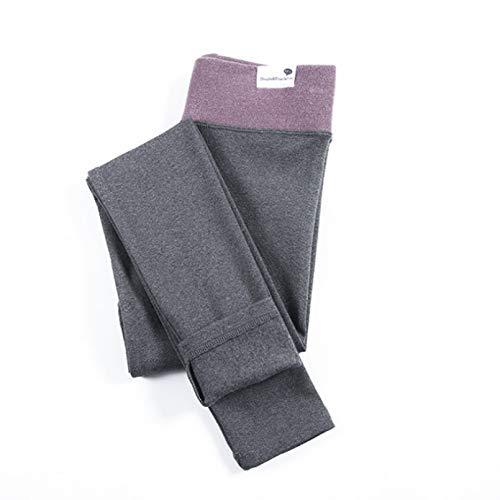 KIEHUI Leggings De Algodón De Cintura Alta para Mujer, Mallas De Gato Elásticas De Primavera, Pantalones De Tubo, Mallas De Fitness Extragrandes para 100Kgs para Mujer