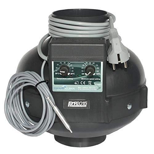 Prima Klima Rohrventilator Temperatur- und Drehzahl gesteuert 760cbm/150mm