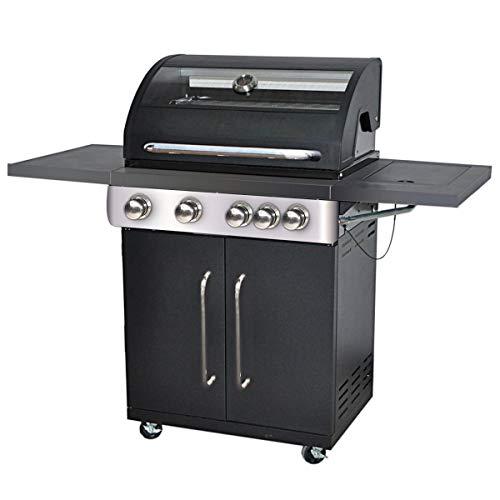 Barbacoa de gas de acero para jardin y terraza - LOLAhome (Premium 4 quemadores)