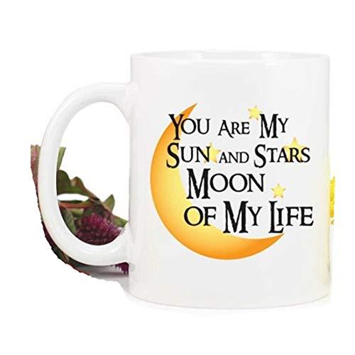 Taza de Juego de Tronos, con texto en inglés 'You are My Sun and Stars Moon of My Life'