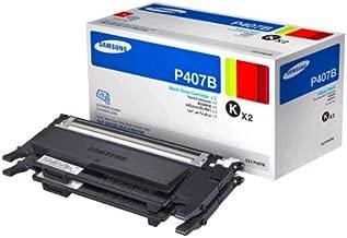 Samsung CLT-P407B/XAA Value Pack - Black Toner x 2 (CLP-325W, CLX-3185, CLX-3185FW)
