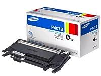 Samsung CLT-P407B Value Pack Black Toner Cartridge Toner by Samsung