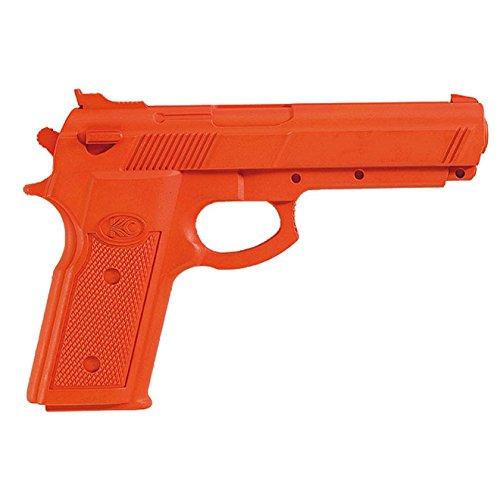 BAY® Gummipistole Trainingspistole Pistole Gummi 22 cm SV Kunststoff Übungspistole Attrappe … (orange)