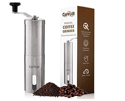 Manual Coffee Grinder - Premium Quality - Brushed Stainless Steel - Conical Ceramic Burr for...