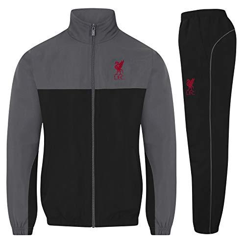 Liverpool FC - Jungen Trainingsanzug - Jacke & Hose - Offizielles Merchandise - Geschenk für Fußballfans - Rot - Liverbird - 12-13 Jahre