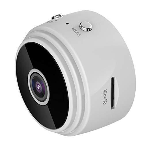 Beautymei Mini cámara espía, cámara inalámbrica WiFi 1080P oculta de visión nocturna cámara de vídeo adecuada para el hogar interior y exterior (blanco)