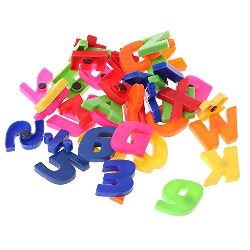 holilest Imán de Nevera, GROOMY Imanes de Nevera Enseñanza del Alfabeto magnético Conjunto de 42 Letras y números Coloridos