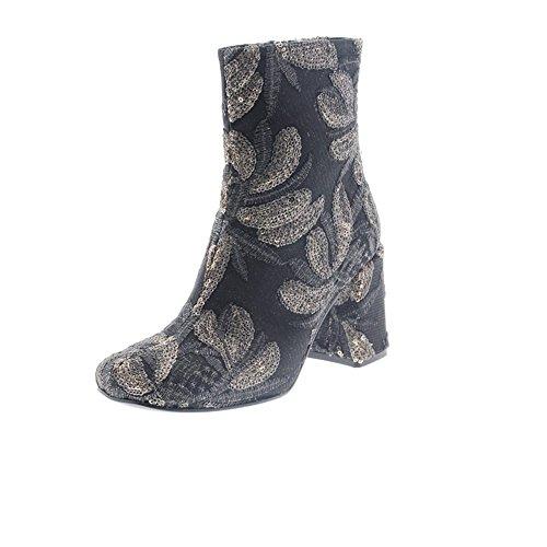 Zapatos Mujer Botas Botines Pons Quintana 6411.019 Negro/Gris 38