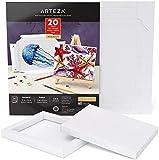 Cadre Arteza DIY, bloc de papier d'art pour médias mixtes, 17,8x21,8 cm, 20 feuilles, papier pour multi médias épais, 228 lb, 370 g/m², sans acide, bloc en cellulose pour la peinture et arts mixtes