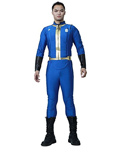 Miccostumes Herren Sole Survivor nate Cosplay Blau ML