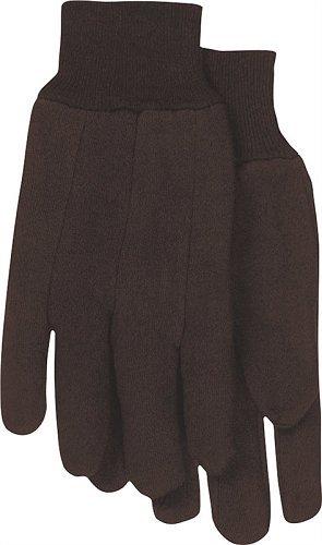 Glove Jersey Brown 6pr Large