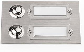 HUBER 12501 bouton de sonnette en acier inoxydable 1 poche sous le pl/âtre-rectangulaire avec /étiquette pour le nom