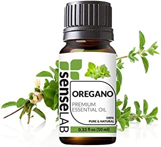 Oregano Essential Oil by SenseLAB – 100% Pure, Natural and Highly Concentrated; Therapeutic Grade Oil 0.33 fl oz (10ml)