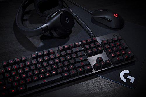 Logitech G413 Mechanical Gaming Keyboard,Romer-G with USB Pass-Through, UK Layout, Carbon Black
