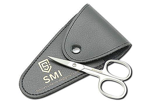 SMI ® - 9,2 cm Tijeras para cutículas Tijeras para uñas Punta fina curva Pedicur manicura acero inoxidable de alta calidad - conjunto de 2