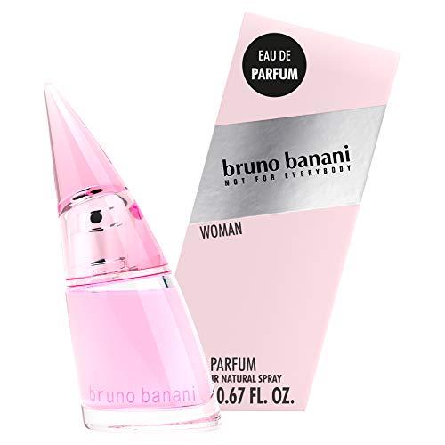 bruno banani Woman Intense, Eau de Parfum Natural Spray, Blumig-fruchtiges Damen Parfüm, 1er Pack (1 x 20 ml)