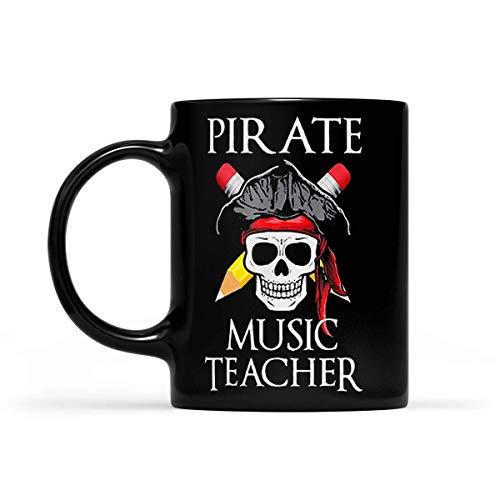 N\A Taza Disfraz de Halloween de Profesor de música Pirata - Negro