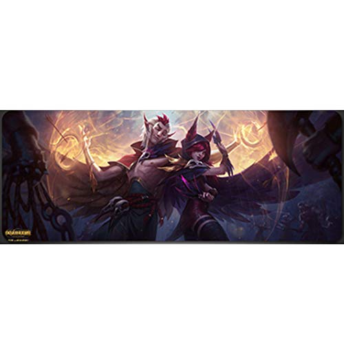 Oversized Gaming Mouse Pad (300x800x3mm, 400x900x3mm), Padded Computer Pad Mat, LOL/League of Legends/DOTA/World of Warcraft