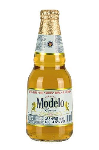 Premium helles Bier aus Mexiko, 4,5% vol. Flasche 355ml.- Cerveza MODELO Especial