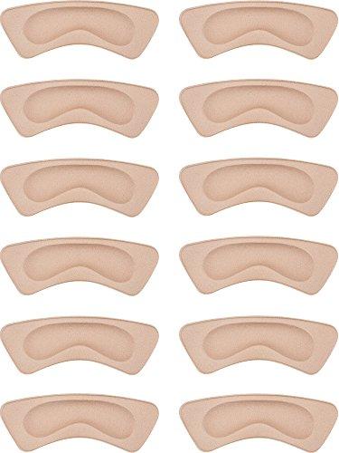 6 Paia Cuscino del Tallone Pad Adesivi a Tacco Scarpa Grip Liner Solette Protezioni del Tallone (Cachi)