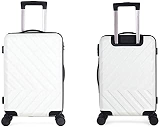 GLJJQMY Trolley Suitcase Universal Wheel Trolley Case 24 Inch Large Capacity Trolley Case Password Box Trolley case (Color : White, Size : 20 inches)