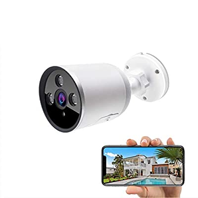 Outdoor WiFi Security Camera, 1080P Wireless Night Vision Security Cameras with Two-Way Audio,Cloud Storage, IP66 Waterproof, Motion Detection, Activity Alert, Deterrent Alarm (Only 2.4G Wifi)